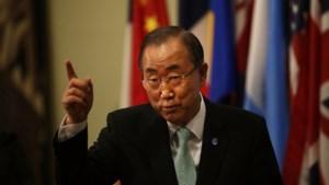 Ban Ki-moon biedt Oekraïne humanitaire hulp aan