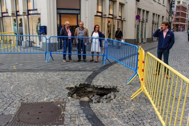 Grondverzakking in Clockhemstraat