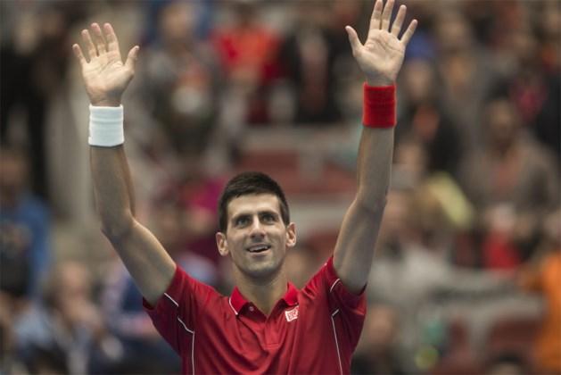 Titelverdediger Novak Djokovic is eerste finalist