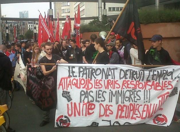 300-tal manifestanten betoogt in Brussel tegen fascisme