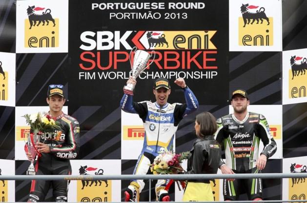 Guintoli en Melandri winnen in Magny-Cours, Sykes blijft leider in Superbike