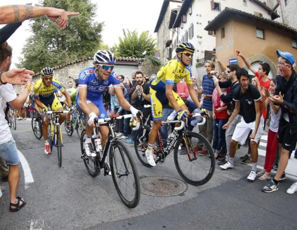 Alberto Contador: 'Pijn aan de knie'