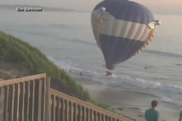 Video: huwelijksaanzoek met luchtballon eindigt in Stille Oceaan