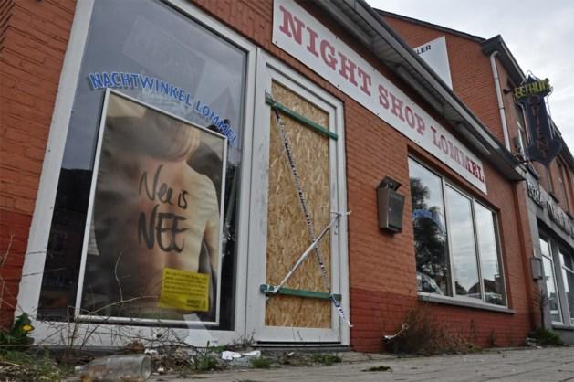 Plunderaars in gesloten Night Shop