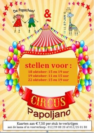 De Papschool en LS St-Jan stellen voor: Circus Papoljano