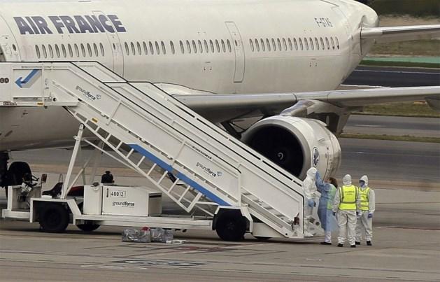 Vliegtuig Air France in quarantaine wegens mogelijk ebolageval
