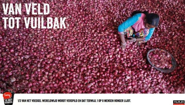 11.11.11: 'Jaarlijks 1,3 miljard ton voedsel in vuilnisbak'