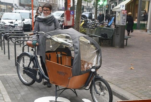 Aparte parkeerplaatsen voor bakfietsen in Hasselt