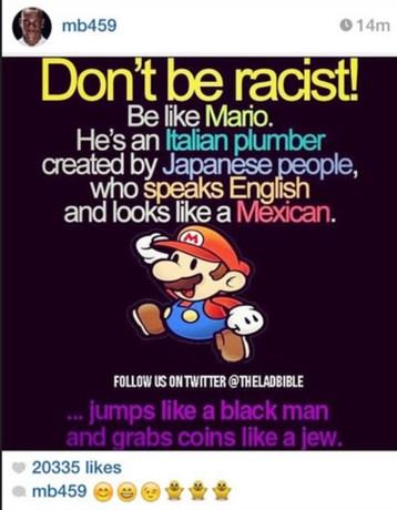 Balotelli op het matje groepen voor racistisch anti-racismebericht