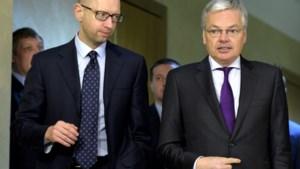 Reynders in Oekraïne: 'Wij steunen de nieuwe regering'
