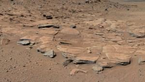 Water heeft op Mars een berg gevormd