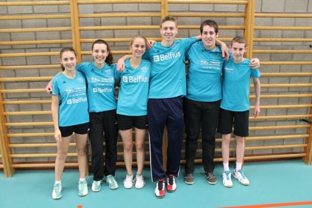 Badmintonners spelen kampioen