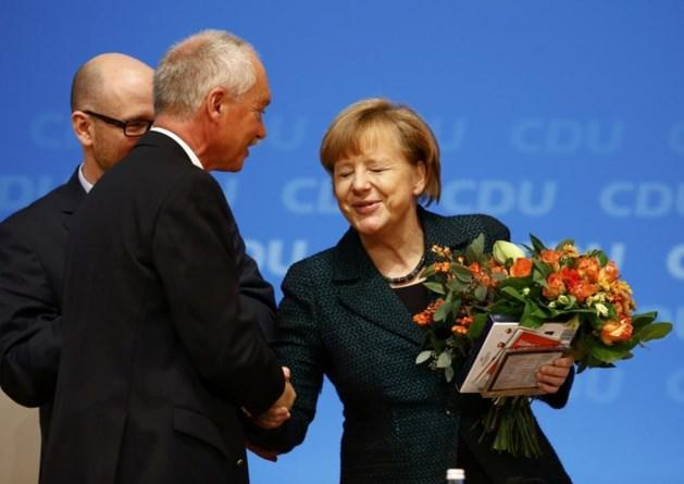 Merkel voor achtste maal verkozen als voorzitster CDU
