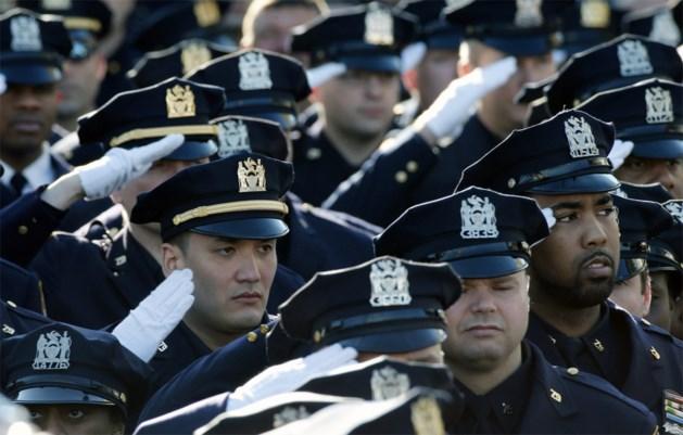 Massale opkomst voor New Yorkse politieagent