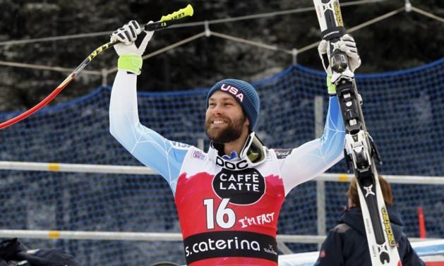 Amerikaan Ganong wint afdaling in Santa Caterina