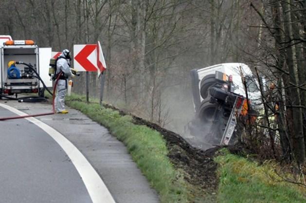 Ook grondwater in Lommel door gekantelde vrachtwagen met zoutzuur vervuild