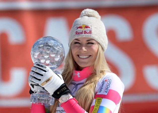 Lindsey Vonn wint ook kristallen globe Super-G