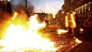 Griekse rellen bij betoging tegen besparingen