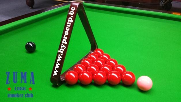 Snooker: 3 op 4 voor Van Hove