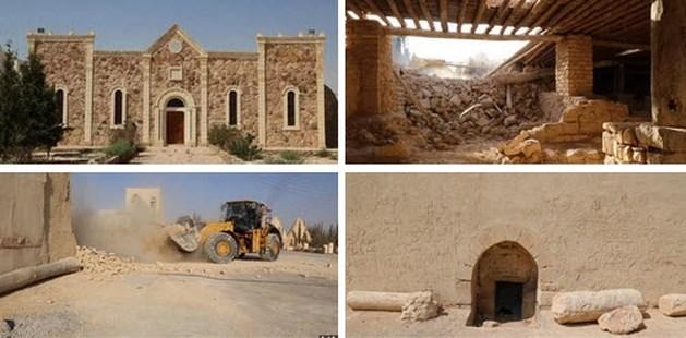 ISIS verwoest 1600 jaar oud klooster met bulldozer