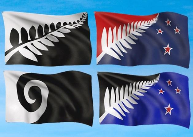 Nieuw-Zeeland kan kiezen tussen deze vier vlaggen