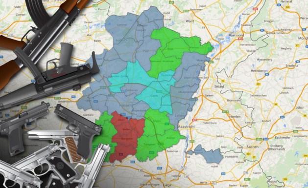 Zoveel wapens zijn er in uw regio