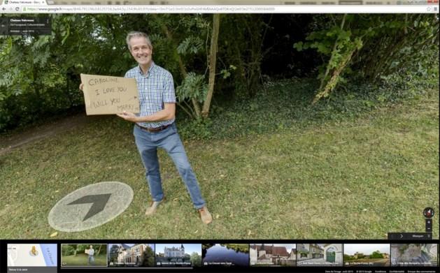Man vraagt vriendin ten huwelijk op Google Street View