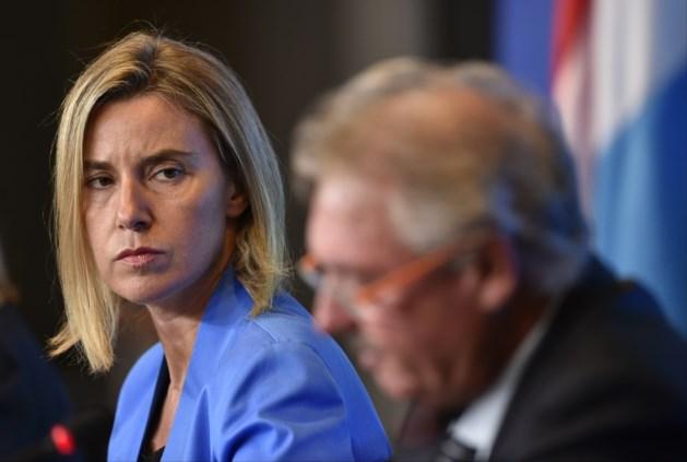 Mogherini: 'Alle EU-landen beseffen dat dit gedeelde verantwoordelijkheid is'