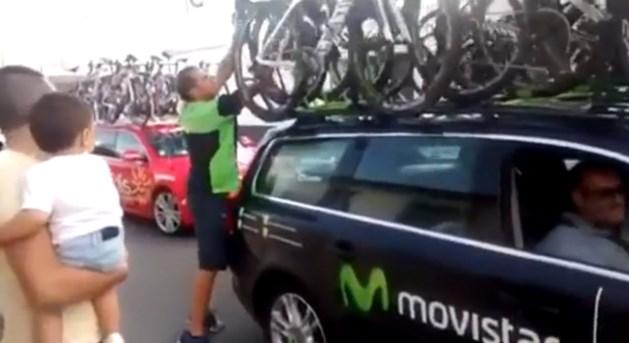 Probeert Movistar een fiets met motor te verbergen in de Vuelta?