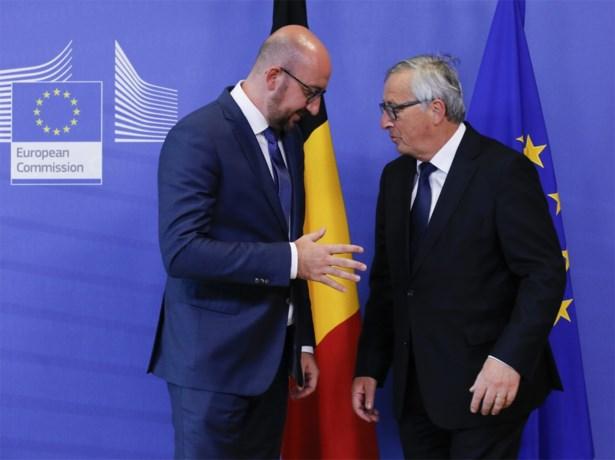 Premier Michel vraagt Juncker rekening te houden met eerdere inspanningen in vluchtelingencrisis