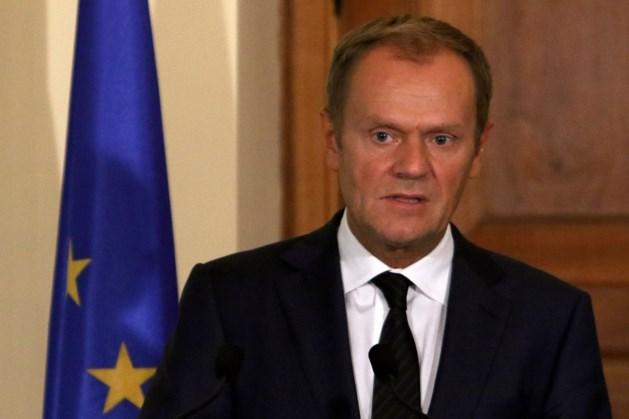 Tusk dreigt met Europese top als ministers geen vooruitgang boeken