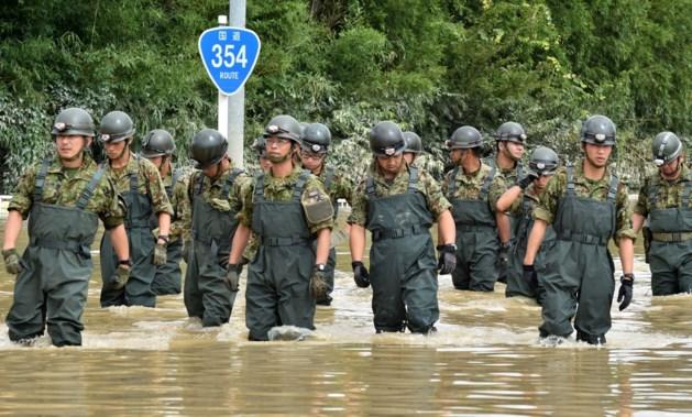 Meer dan 100 mensen gestrand door overstromingen in Oost-Japan