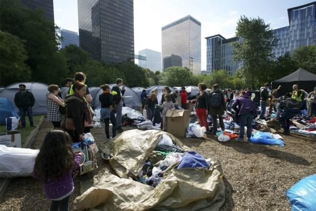 Evacuatie van tentenkamp voor vluchtelingen in Brussel wordt voorbereid