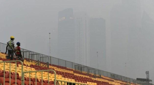 Smogwolk bedreigt F1-race in Singapore