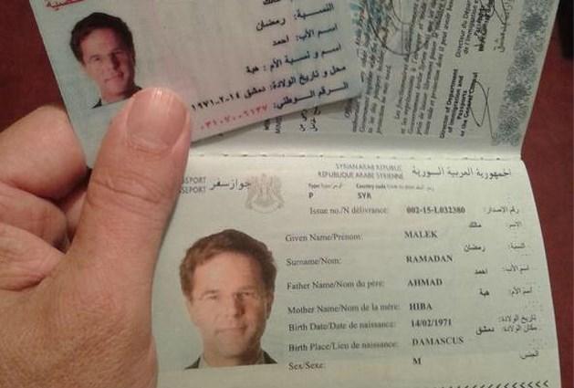 Journalist verkrijgt eenvoudig vals Syrisch paspoort met foto van premier Rutte