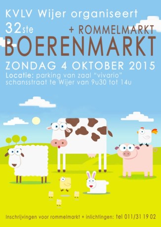 KVLV Wijer organiseert boeren-en rommelmarkt