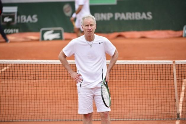 John McEnroe is kapitein van de Belgische supporters op Davis Cup