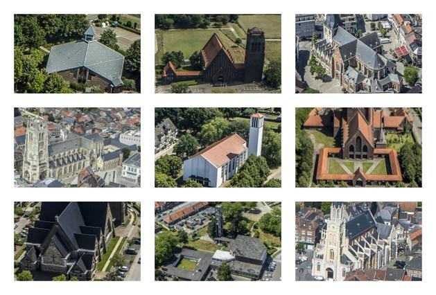 Luchtfoto's van uw gemeente: Herkent u deze herkenbare kerken? (quiz)