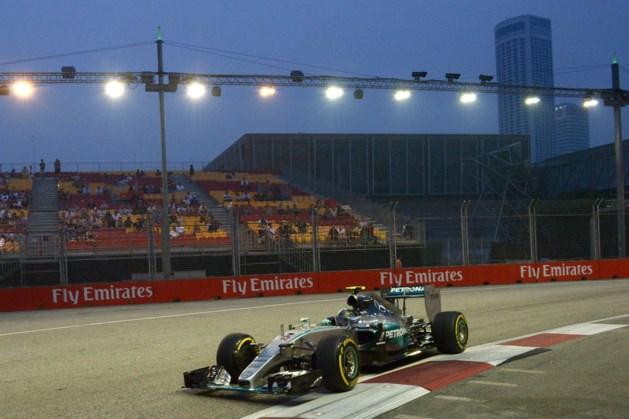 Rosberg sneller dan Hamilton tijdens eerste oefensessie GP van Singapore