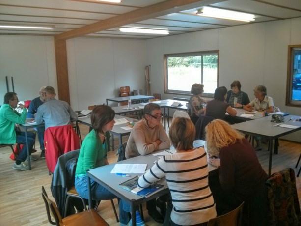 Eerste lessen 'en français' bij CVO13.