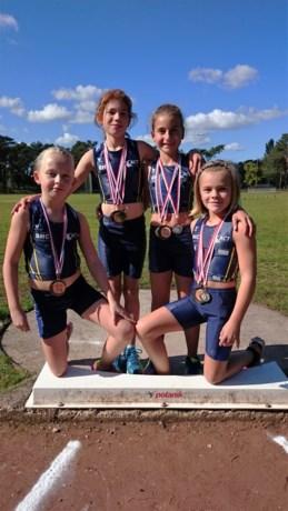 10 provinciale en 1 nationale medaille voor Benjamin dames van TACT Sint-Truiden.