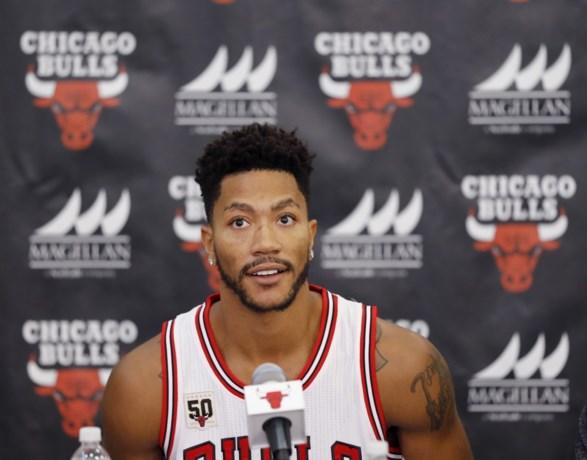 Bulls-vedette Derrick Rose breekt oogkas op eerste training in NBA-seizoen