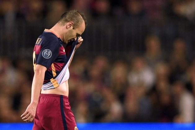 Barça krijgt klappen: na Messi nu ook Iniesta out