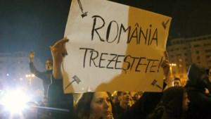 Tienduizenden Roemenen protesteren tegen de politieke klasse