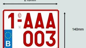 Nieuwe nummerplaat voor elektrische fietsen valt wel heel groot uit (oproep)