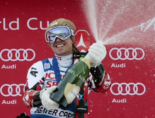 Marcel Hirscher wint voor het eerst een super-G