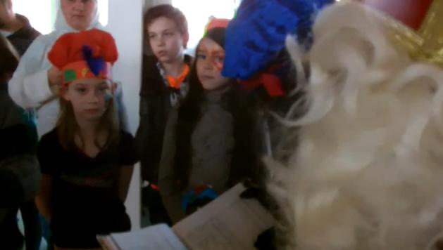 Kinderen in de watten gelegd op Sinterklaasfeest OCMW