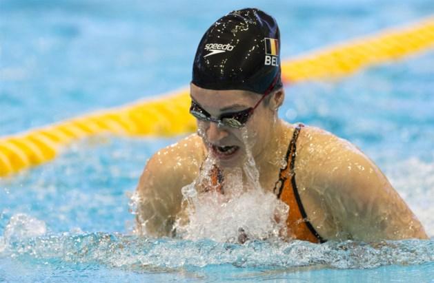 Fanny Lecluyse eindigt als vierde op 100m schoolslag