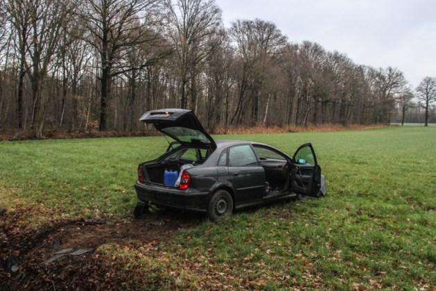 Gecrashte auto ligt vol xtc-vaten