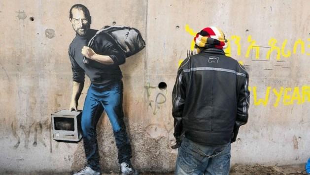 """Banksy: """"Apple bestaat alleen dankzij de zoon van een Syrische migrant"""""""